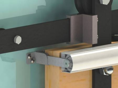 Fix 6 Series SLIDEback sliding door closer on barn door