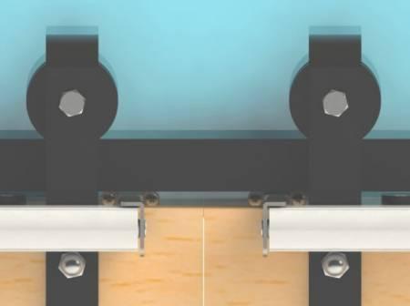 Fix 6 Series SLIDEback porta deslizante mais próxima na porta dupla do celeiro