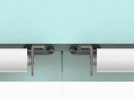 Fix 6 Series SLIDEback porta deslizante mais próxima na porta de vidro duplo