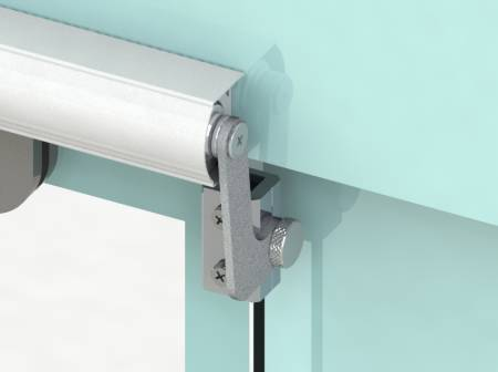 Fix 6 Series SLIDEback sliding door closer on glass door frame