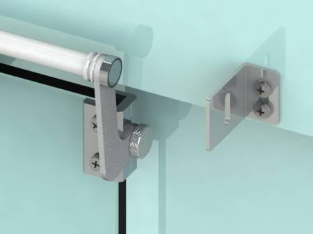 Hold-open for glass door, SELFCLOSE sliding door closer on glass door