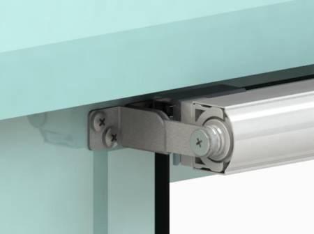 Fix 6 Series SLIDEback porta deslizante mais perto em porta de vidro sem moldura