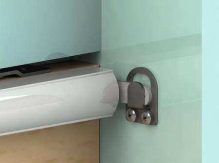 Fix 6 Series SLIDEback porta deslizante mais perto na porta de madeira