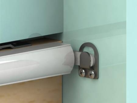 Fix 6 Series SLIDEback sliding door closer on wooden door