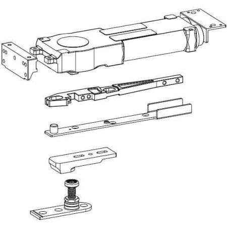 Transom concealed overhead door closer similar to Dorma RTS 85