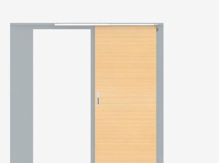 Porta de madeira com fechamento de porta deslizante traseira SLIDE