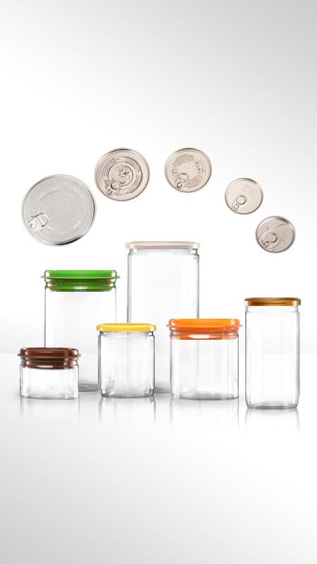 PET aluminiu / plastic cutie ușoară deschisă