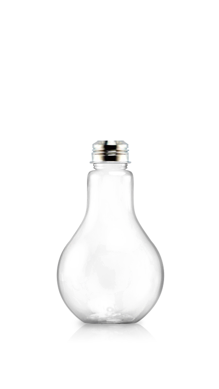 510 ml Light Bulb Shape PET bottle for cool beverages packaging with Certification FSSC, HACCP, ISO22000, IMS, BV