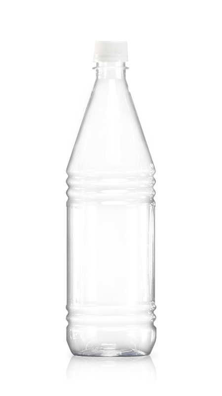 1000 ml PET Round Water Bottle with Certification FSSC, HACCP, ISO22000, IMS, BV