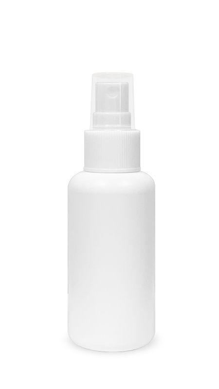 Seria PET-Sanitizer pentru mâini (HDPE-S-100) - Flacon tip bullet HDPE Mist Sprayer de 100 ml