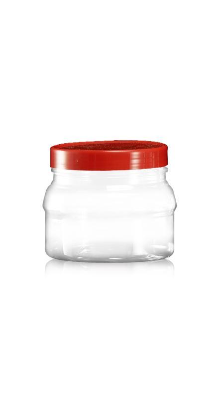 Alte borcane largi din PET (C600) - Borcan rotund PET de 680 ml