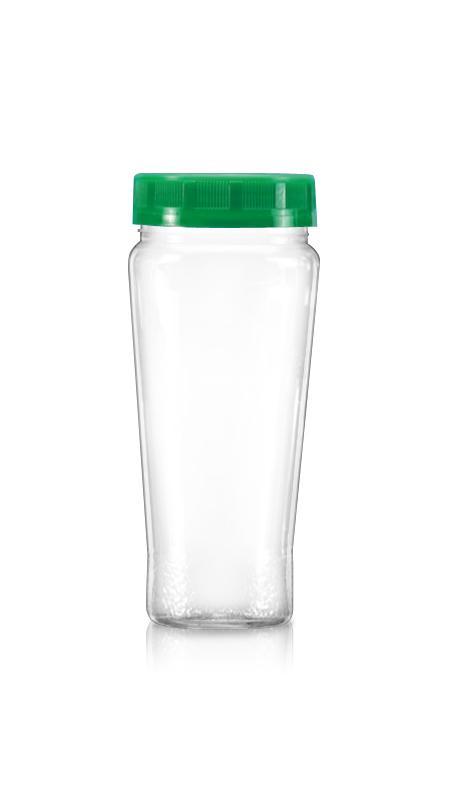 PET 63mm Series Wide Mouth Jar (B353) - 330 ml PET Cone Shape Jar with Certification FSSC, HACCP, ISO22000, IMS, BV