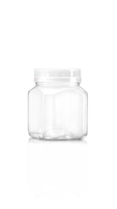 PET 63 mm Weithalsdose (A318) - 300 ml PET Achteckiges Glas mit Zertifizierung FSSC, HACCP, ISO22000, IMS, BV