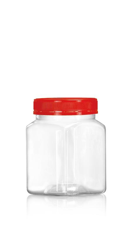 PET 89-mm-Serie Weithalsglas (D808) - 850 ml PET Achteckiges Glas mit Zertifizierung FSSC, HACCP, ISO22000, IMS, BV