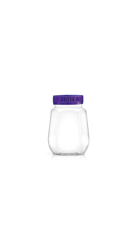 PET 53mm Series Wide Mouth Jar (F238) - Pet-Plastic-Bottles-Octagonal-F238