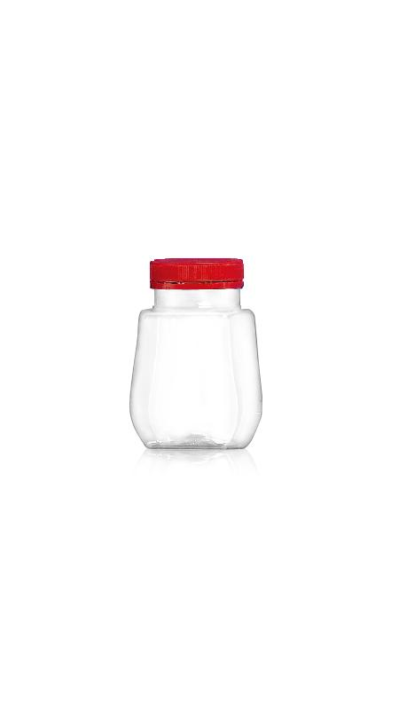 PET 53mm Series Wide Mouth Jar (F308) - Pet-Plastic-Bottles-Octagonal-F308