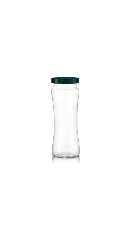 PET 63mm Series Wide Mouth Jar (WM260) - Pet-Plastic-Bottles-Octagonal-Wm260