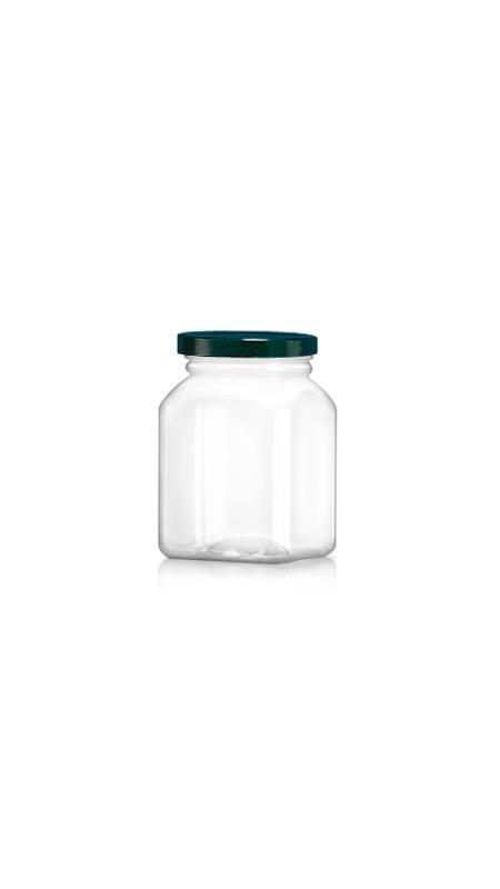 PET 63-mm-Serie Weithalsglas (WM328) - 330 ml PET Achteckiges Glas mit Metalldeckel und Zertifizierung FSSC, HACCP, ISO22000, IMS, BV
