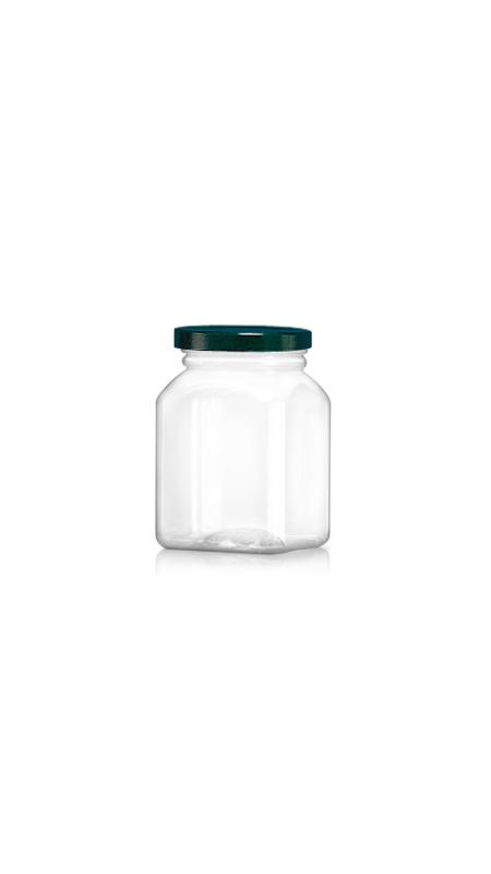 PET 63mm Series Wide Mouth Jar (WM328) - 330 ml PET Octagonal Jar with Metalic Lid and Certification FSSC, HACCP, ISO22000, IMS, BV
