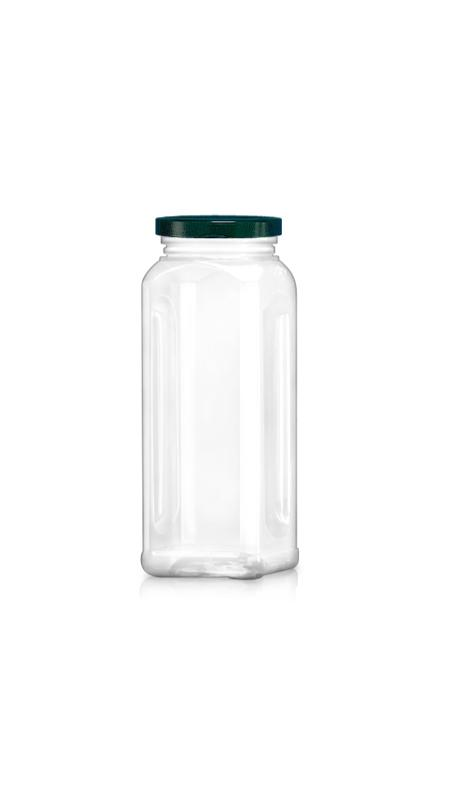 PET 63 mm Weithalsdose (WM588) - 590 ml PET Achteckiges Glas mit Metalldeckel und Zertifizierung FSSC, HACCP, ISO22000, IMS, BV