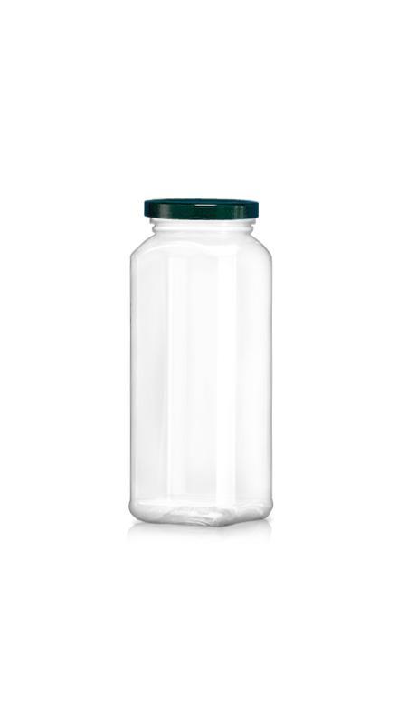 PET 63 mm Weithalsdose (WM658) - 670 ml PET Achteckiges Glas mit Metalldeckel und Zertifizierung FSSC, HACCP, ISO22000, IMS, BV