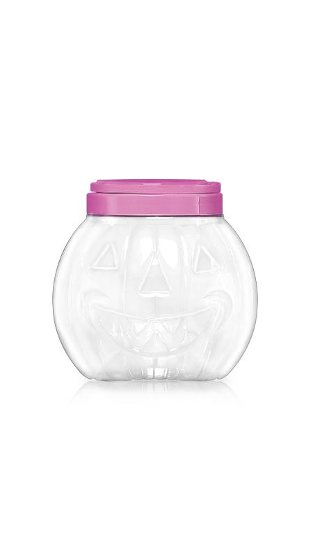 PET 120mm Series Wide Mouth Jar (J1407) - 2800 ml PET Hallowen Pumpkin shape Jar with Certification FSSC, HACCP, ISO22000, IMS, BV