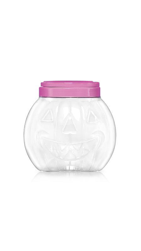 PET 120mm Series Wide Mouth Jar (J1407) - 2800 ml PET Hallowen Pumpkin shape Jar with Certification FSSC, HACCP, ISO22000, IMS, BV