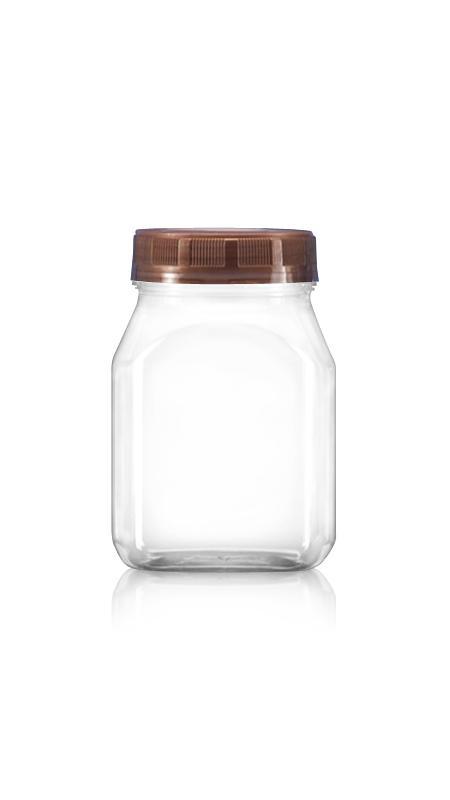 PET 63mm Series Wide Mouth Jar (B351) - 350 ml PET Rectangle Jar with Certification FSSC, HACCP, ISO22000, IMS, BV