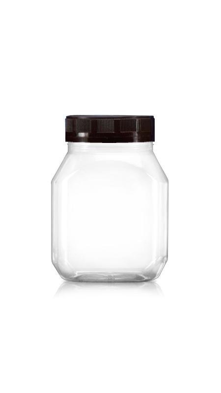 PET 63mm Serie Weithalsglas (B401) - 400 ml PET Rectangle Taper Jar mit Zertifizierung FSSC, HACCP, ISO22000, IMS, BV