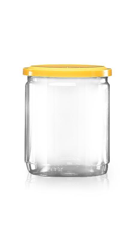 PET aluminiu / plastic cutie ușoară deschisă (307-460) - Borcan EOE PET de 460 ml cu capac din aluminiu și certificare FSSC, HACCP, ISO22000, IMS, BV