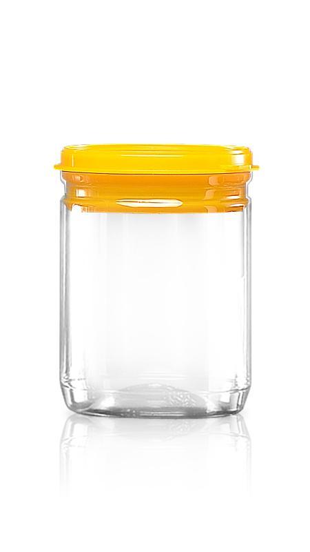 PET aluminiu / plastic cutie ușoară deschisă (307-460P) - Borcan EOE PET de 460 ml cu capac din plastic și certificare FSSC, HACCP, ISO22000, IMS, BV