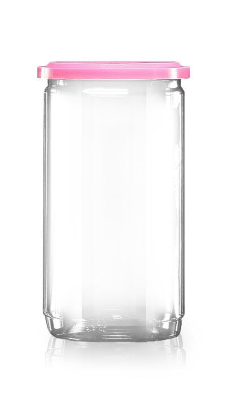 PET aluminiu / plastic cutie ușoară deschisă (307-825) - Borcan EOE PET de 740 ml cu capac din aluminiu și certificare FSSC, HACCP, ISO22000, IMS, BV