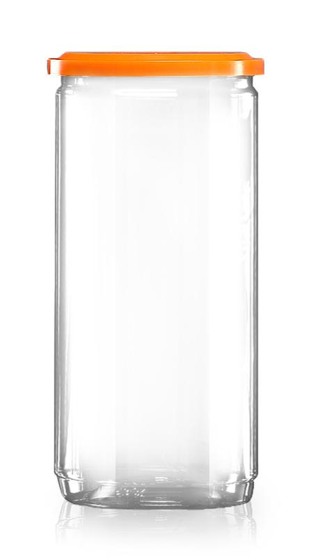 PET aluminiu / plastic cutie ușoară deschisă (307-900) - Borcan PET de 900 ml cu capac din aluminiu și certificare FSSC, HACCP, ISO22000, IMS, BV