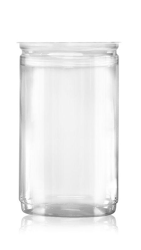 PET Aluminum / Plastic Easy Open Can (401-1300-ASB) - Pet-Plastic-Bottles-Round-401-1300