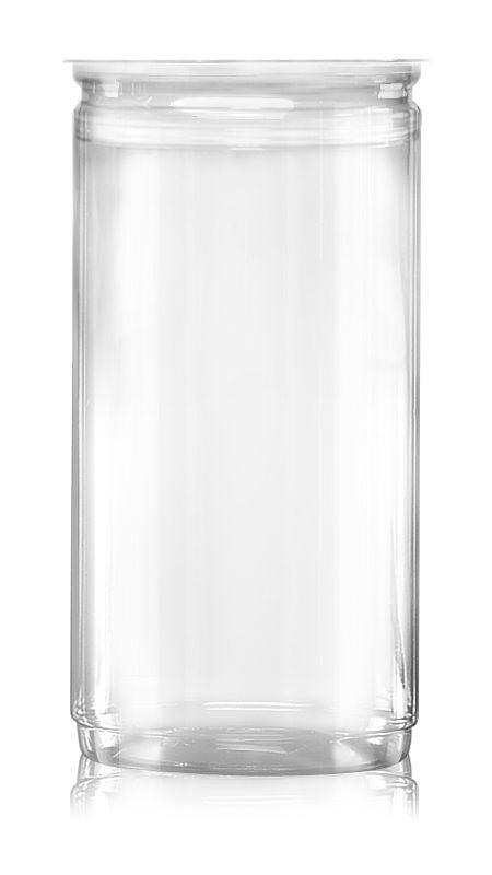 PET Aluminum / Plastic Easy Open Can (401-1520-ASB) - Pet-Plastic-Bottles-Round-401-1520