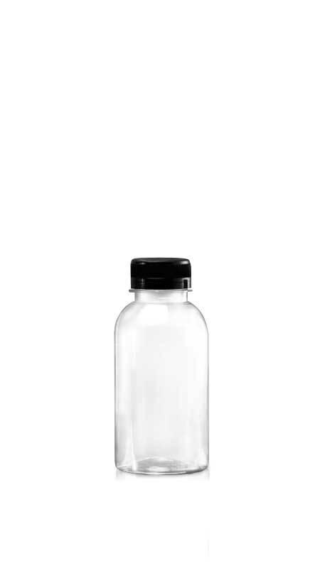 Sticle PET din seria 38mm (65-380) - Flacon PET Boston Style de 380 ml pentru ambalarea băuturilor reci cu certificare FSSC, HACCP, ISO22000, IMS, BV
