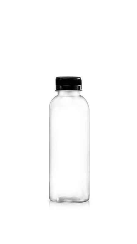 Sticle PET din seria 38mm (65-500) - Flacon PET Boston Style de 510 ml pentru ambalarea băuturilor reci cu certificare FSSC, HACCP, ISO22000, IMS, BV