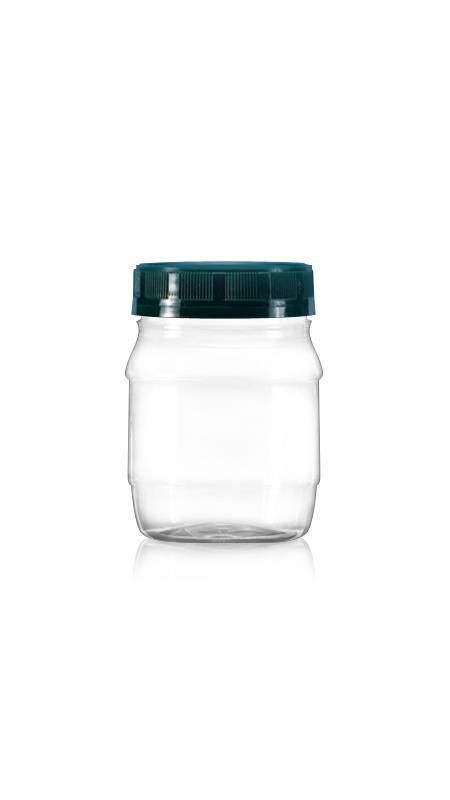 PET 63-mm-Serie Weithalsdose (A250) - 300 ml PET Rundglas mit Zertifizierung FSSC, HACCP, ISO22000, IMS, BV
