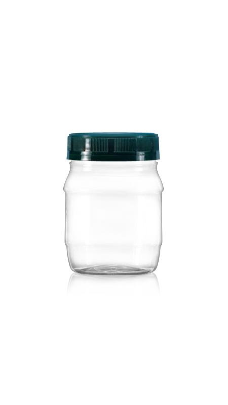 PET 63mm Series Wide Mouth Jar (A250) - 300 ml PET Round Jar with Certification FSSC, HACCP, ISO22000, IMS, BV
