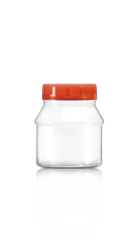 PET 63mm Series Wide Mouth Jar (A310N) - 300 ml PET Round Jar with Certification FSSC, HACCP, ISO22000, IMS, BV