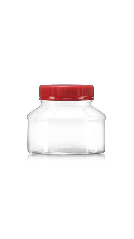PET 63-mm-Serie Weithalsdose (A320) - 300 ml PET Rundglas mit Zertifizierung FSSC, HACCP, ISO22000, IMS, BV