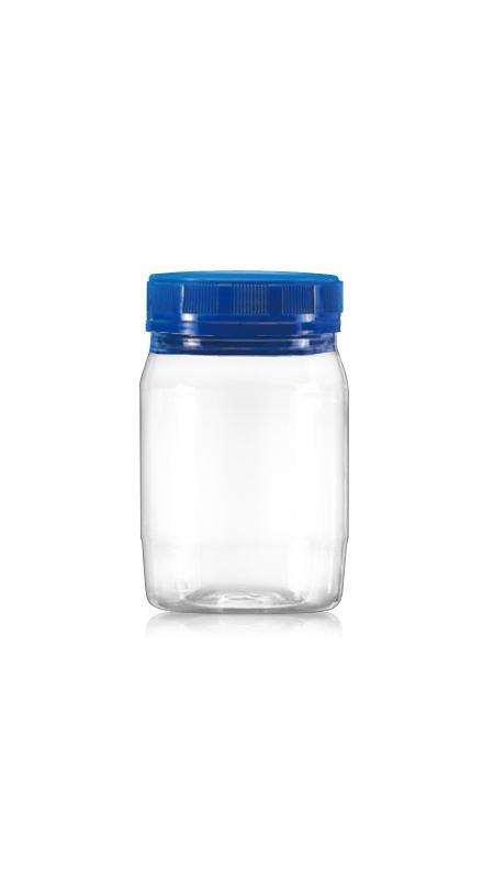 PET 63-mm-Serie Weithalsglas (B300) - 300 ml PET Rundglas mit Zertifizierung FSSC, HACCP, ISO22000, IMS, BV
