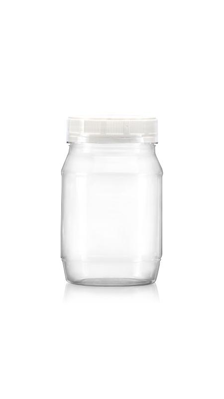 PET 63mm Series Wide Mouth Jar (B350) - Pet-Plastic-Bottles-Round-B350