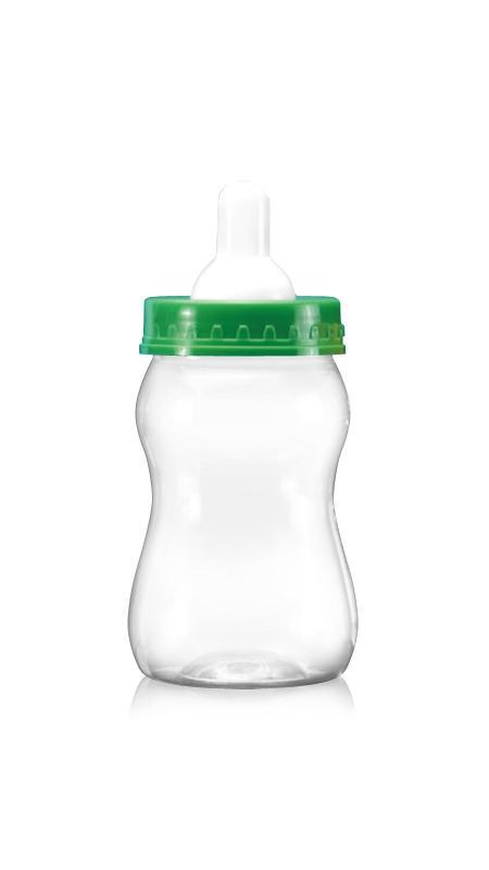 PET 63mm Series Wide Mouth Jar (B358) - 400 ml PET Milk bottle shaped Jar with Certification FSSC, HACCP, ISO22000, IMS, BV