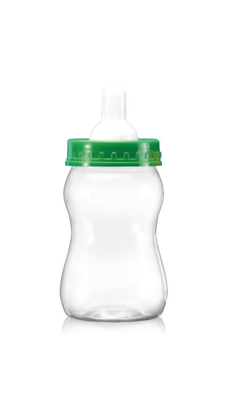 PET Buză largă din seria 63mm (B358) - Borcan în formă de sticlă de lapte PET de 400 ml cu certificare FSSC, HACCP, ISO22000, IMS, BV