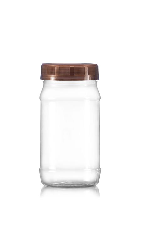 PET 63mm Series Wide Mouth Jar (B400) - Pet-Plastic-Bottles-Round-B400