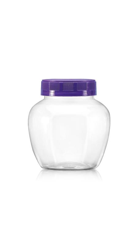 PET 63-mm-Serie Weithalsglas (B460) - 450 ml PET-Apfelglas mit Zertifizierung FSSC, HACCP, ISO22000, IMS, BV