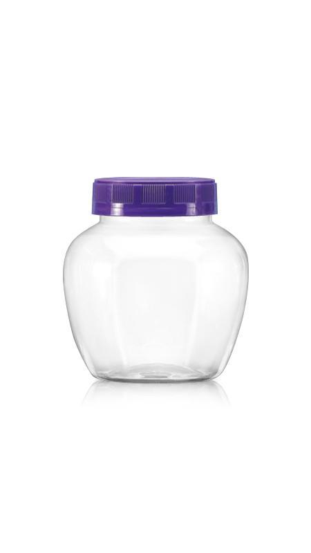 PET 63mm Series Wide Mouth Jar (B460) - 450 ml PET Apple Shape Jar with Certification FSSC, HACCP, ISO22000, IMS, BV