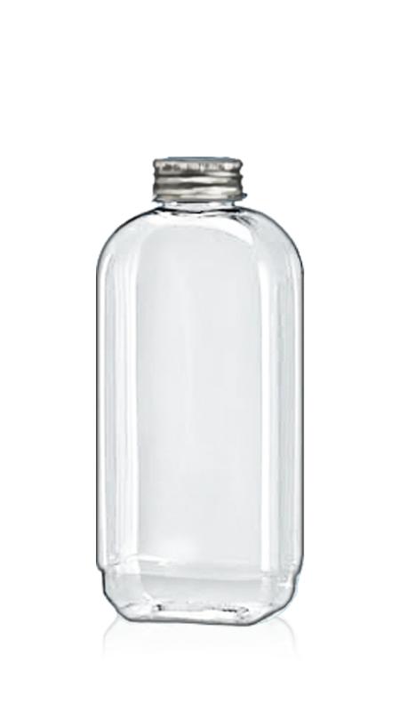 Sticle PET din seria rotundă de 32 mm (32-77-500) - Flacon PET 458 ml dreptunghiular pentru ambalare rece de ceai cu certificare FSSC, HACCP, ISO22000, IMS, BV