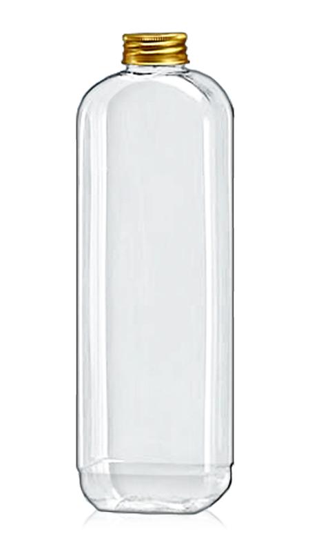Sticle PET din seria rotundă de 32 mm (32-77-700) - Flacon PET de 638 ml dreptunghiular pentru ambalarea ceaiului rece cu certificare FSSC, HACCP, ISO22000, IMS, BV